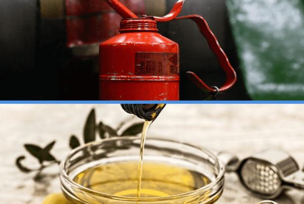 Huile moteur et huile d'olives