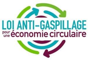 Logo de la loi anti gaspillage pour une économie circulaire