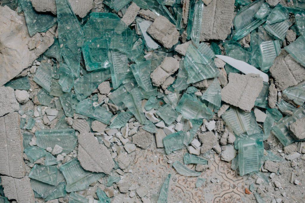 morceaux de verre